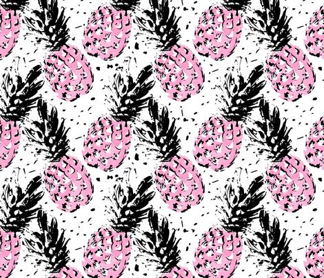 Splash of Pineapple fabric by blissdesignstudio on Spoonflower - custom fabric