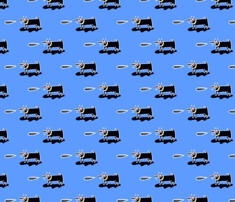 Mad dog fabric by kimmurton on Spoonflower - custom fabric