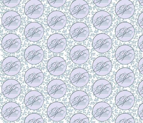 Elden Fragrance - Green Leaves Large Logo fabric by kellyw on Spoonflower - custom fabric