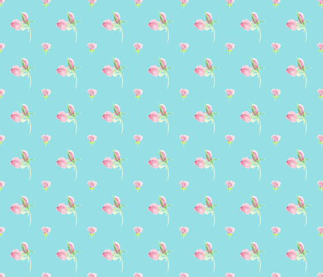 Rose Bud, Island fabric by jen_stone on Spoonflower - custom fabric