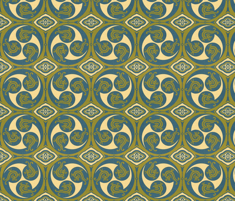 japonaise 19 fabric by hypersphere on Spoonflower - custom fabric