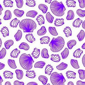 Seashells (light purple on white)