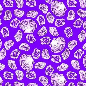 Seashells (white on light purple)
