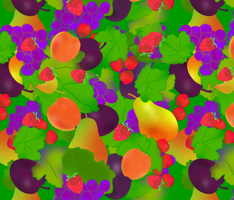 Summer_Fruits fabric by della_vita on Spoonflower - custom fabric