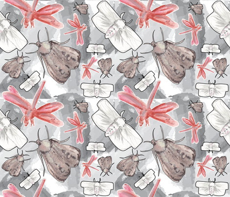 What's Black and White and Flying All Over? fabric by sburke313 on Spoonflower - custom fabric