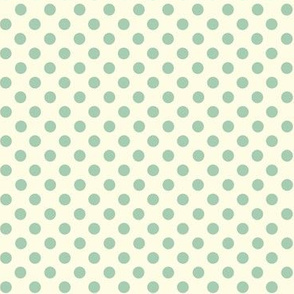 Dolly Dots Mint Large Offwhite