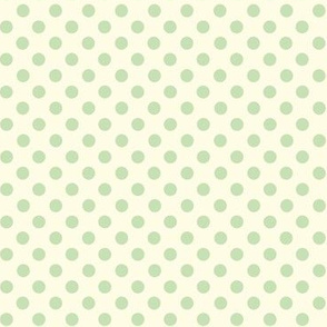 Dolly Dots Pale Green Large Offwhite