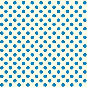 Dolly Dots Clearblue Large Offwhite
