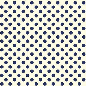 Dolly Dots Navyblue Large Offwhite