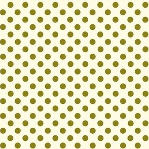 Dolly Dots Dark Green Large Offwhite