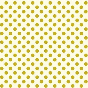 Dolly Dots Olive Large Offwhite