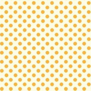 Dolly Dots Orange Large Offwhite