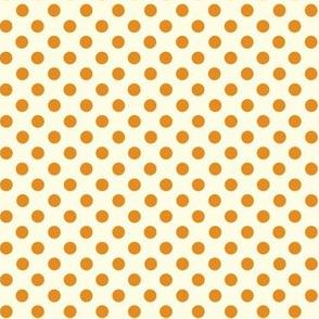 Dolly Dots Dark Orange Large Offwhite