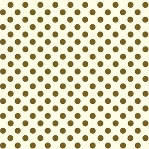 Dolly Dots Light Brown Large Offwhite