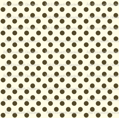 Dolly Dots Brown Large Offwhite