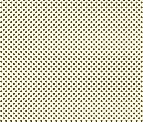 Dolly Dots Brown Large Offwhite fabric by prydverk on Spoonflower - custom fabric
