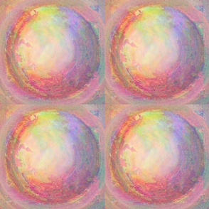 GLOBE TILES SWEET SPRING SUNRISE MARBLED IN PINK AND GREEN