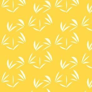 Magnolia Cream Oriental Tussocks on Pineapple Passion - Medium Scale