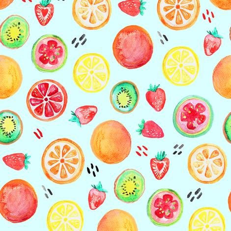 Fruit Salad fabric by tangerine-tane on Spoonflower - custom fabric