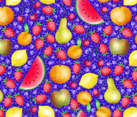watercolorfruit fabric by gaiamarfurt on Spoonflower - custom fabric