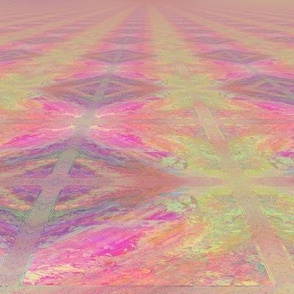 PARQUETRY PERSPECTIVE SWEET SPRING SUNRISE MARBLED IN PINK AND GREEN