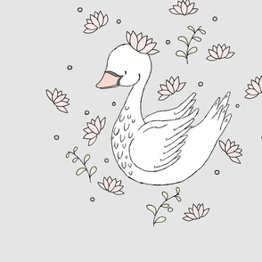Swan Lily Panel 21x21 // by Sweet Melody Designs