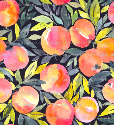 Fragrant peaches