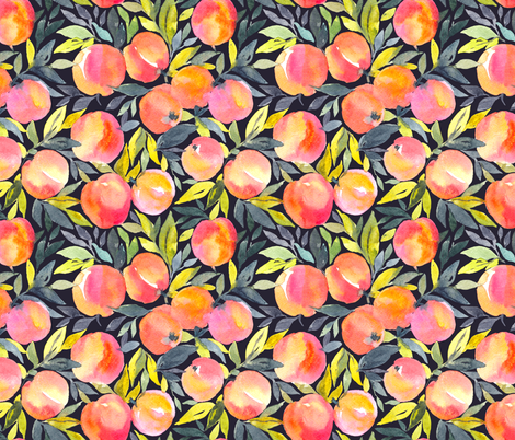 Fragrant peaches fabric by alenkakarabanova on Spoonflower - custom fabric