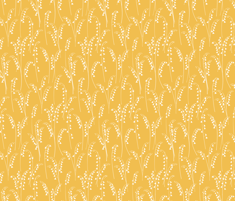 Lily Of The Valley - yellow fabric by jillbyers on Spoonflower - custom fabric
