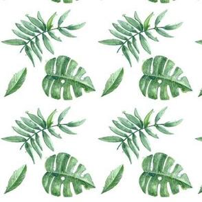 Watercolor Palm Leaf 90