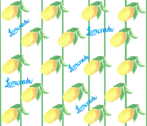 Lemonade fabric by lilymorgan on Spoonflower - custom fabric
