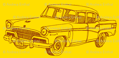 1956 Studebaker President on  bright yellow