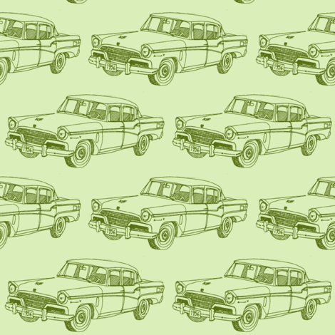 1956  Studebaker President 4 door sedan fabric by edsel2084 on Spoonflower - custom fabric