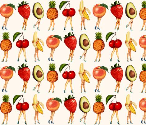 Fruit Girls fabric by kellygilleran on Spoonflower - custom fabric