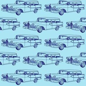 1958 Edsel Villager station wagon in blue