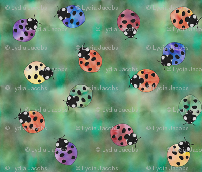 Ladybugs in Watercolor