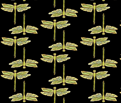 Watercolor Dragonfly -ed fabric by katawampus on Spoonflower - custom fabric