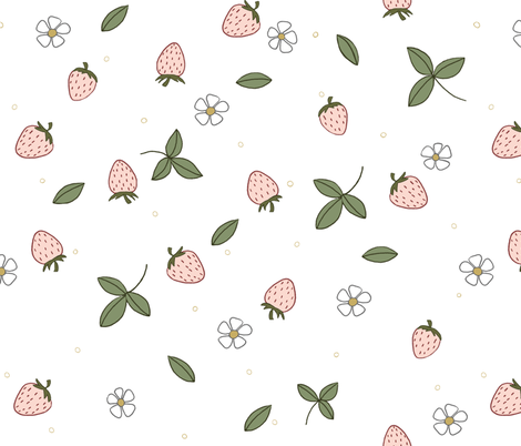 Sweet Berry // by Sweet Melody Designs fabric by sweetmelodydesigns on Spoonflower - custom fabric
