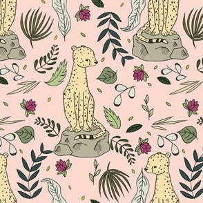 Cheetah Botanical // by Sweet Melody Designs