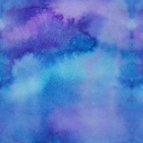 Abstract Blue Watercolor
