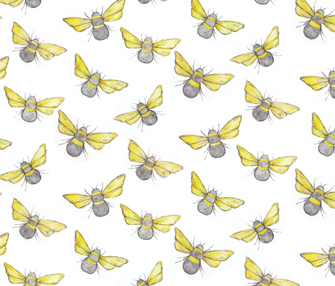 Bee-utiful Watercolor  fabric by shelby_bass on Spoonflower - custom fabric