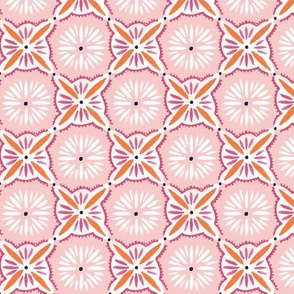 Daisy Tile - Rose