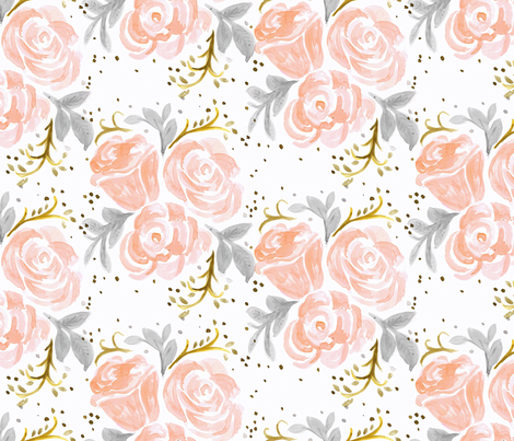 Sparkling Rosé Flora fabric by crystal_walen on Spoonflower - custom fabric