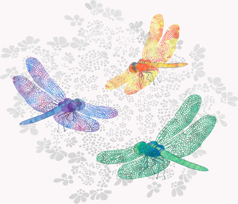 Dragonflies fabric by jvclawrence on Spoonflower - custom fabric