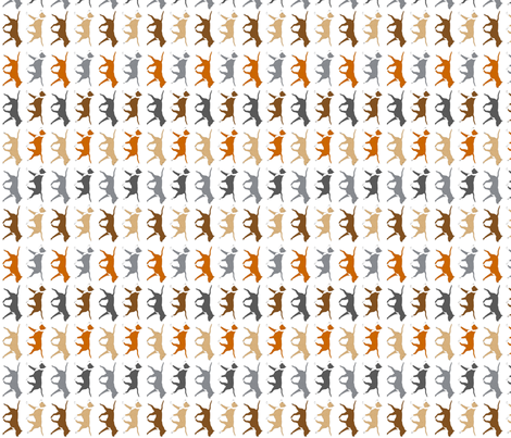 Trotting American Staffordshire Terriers small border - vertical fabric by rusticcorgi on Spoonflower - custom fabric