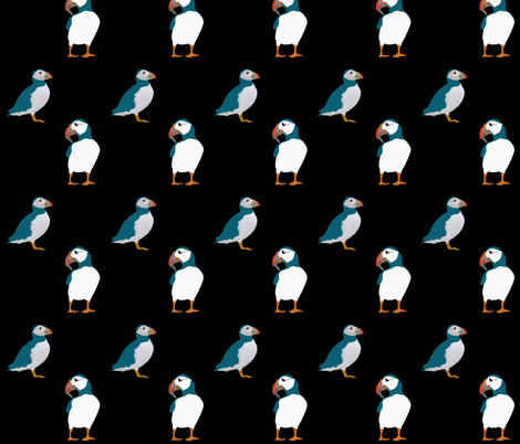 Puffin fabric by redthanet on Spoonflower - custom fabric