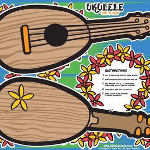 Oily Aloha - Ukulele - Cut & Sew - Blue