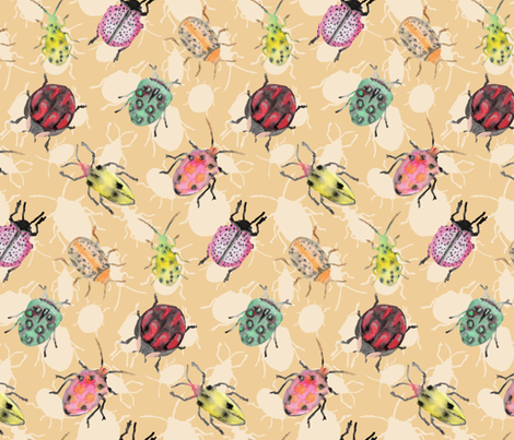 insects fabric by marielatresoldi on Spoonflower - custom fabric