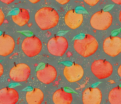 Peach Days Parade  fabric by saint_shores on Spoonflower - custom fabric