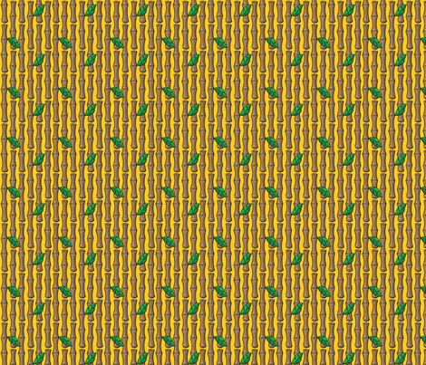 Kitsch Tiki - Lil' Bamboo - Yellow fabric by shannanigan on Spoonflower - custom fabric
